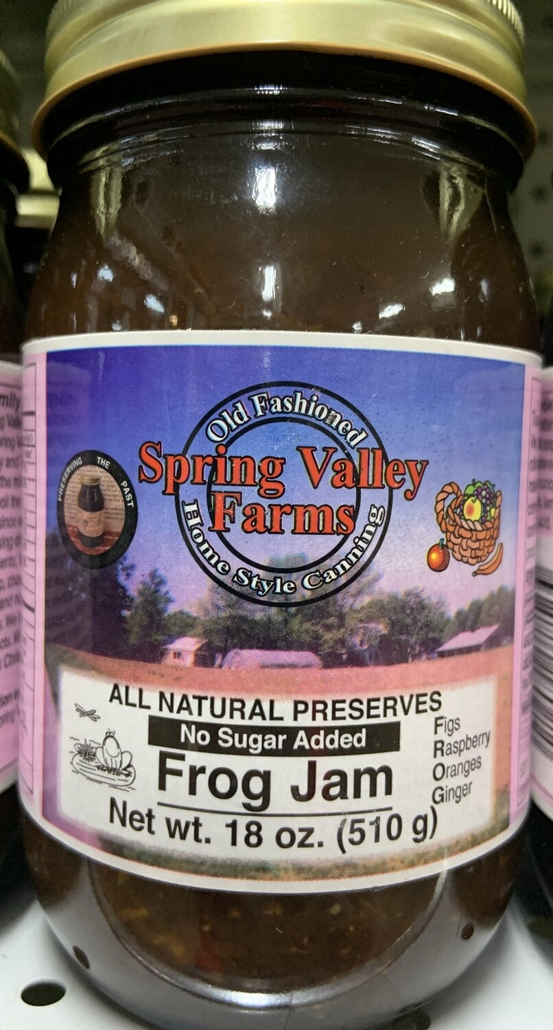 Spring Valley Farms No Sugar Added Fruit Juice Sweetened Frog Jam 19oz