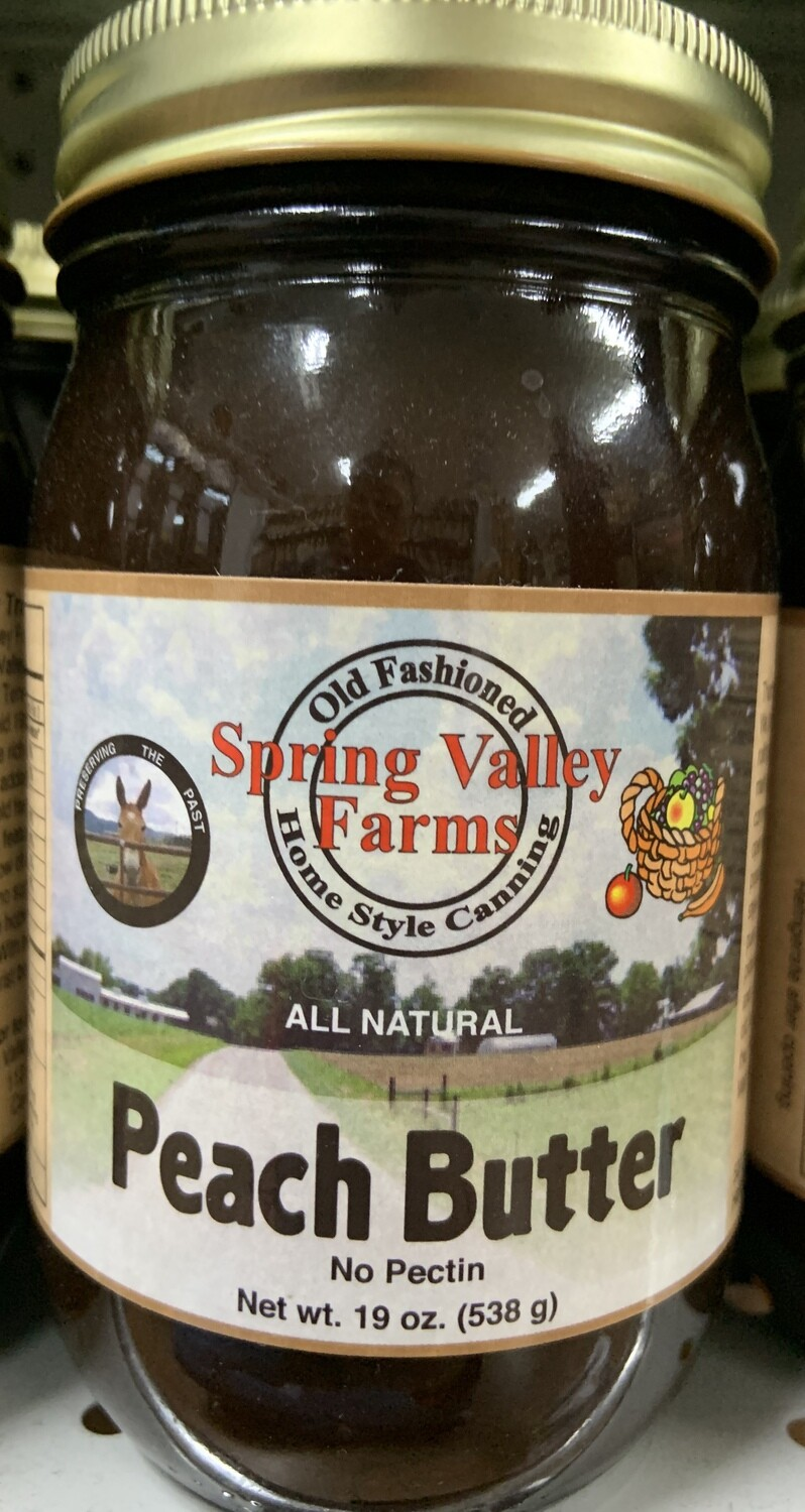 Spring Valley Farms Peach Butter 19oz