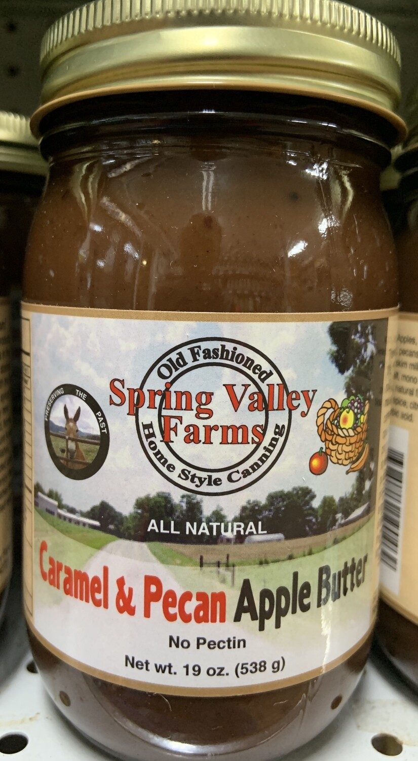 Spring Valley Farms Caramel & Pecan Apple Butter 19oz