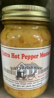 Byler Relish HouseExtra Hot Pepper Mustard 16oz