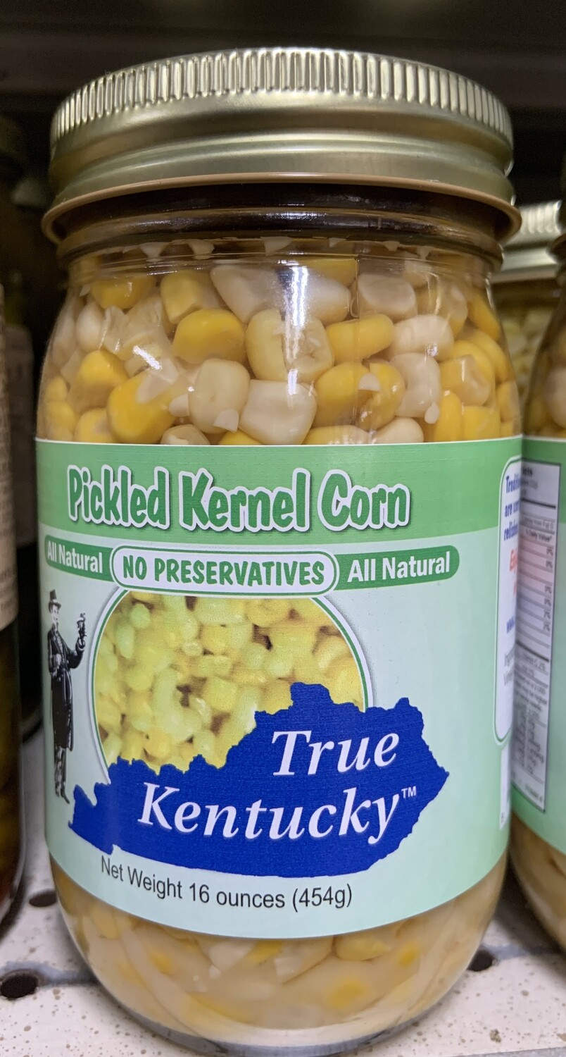 True Kentucky Pickled Kernel Corn 16 oz