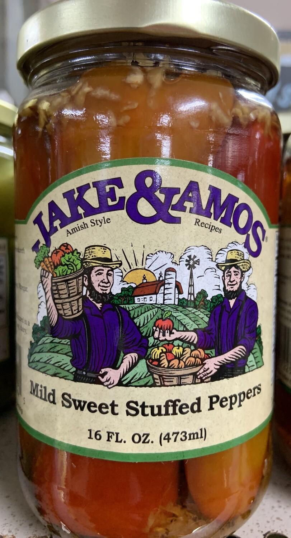 Jake & Amos Mild Sweet Stuff Peppers 16oz