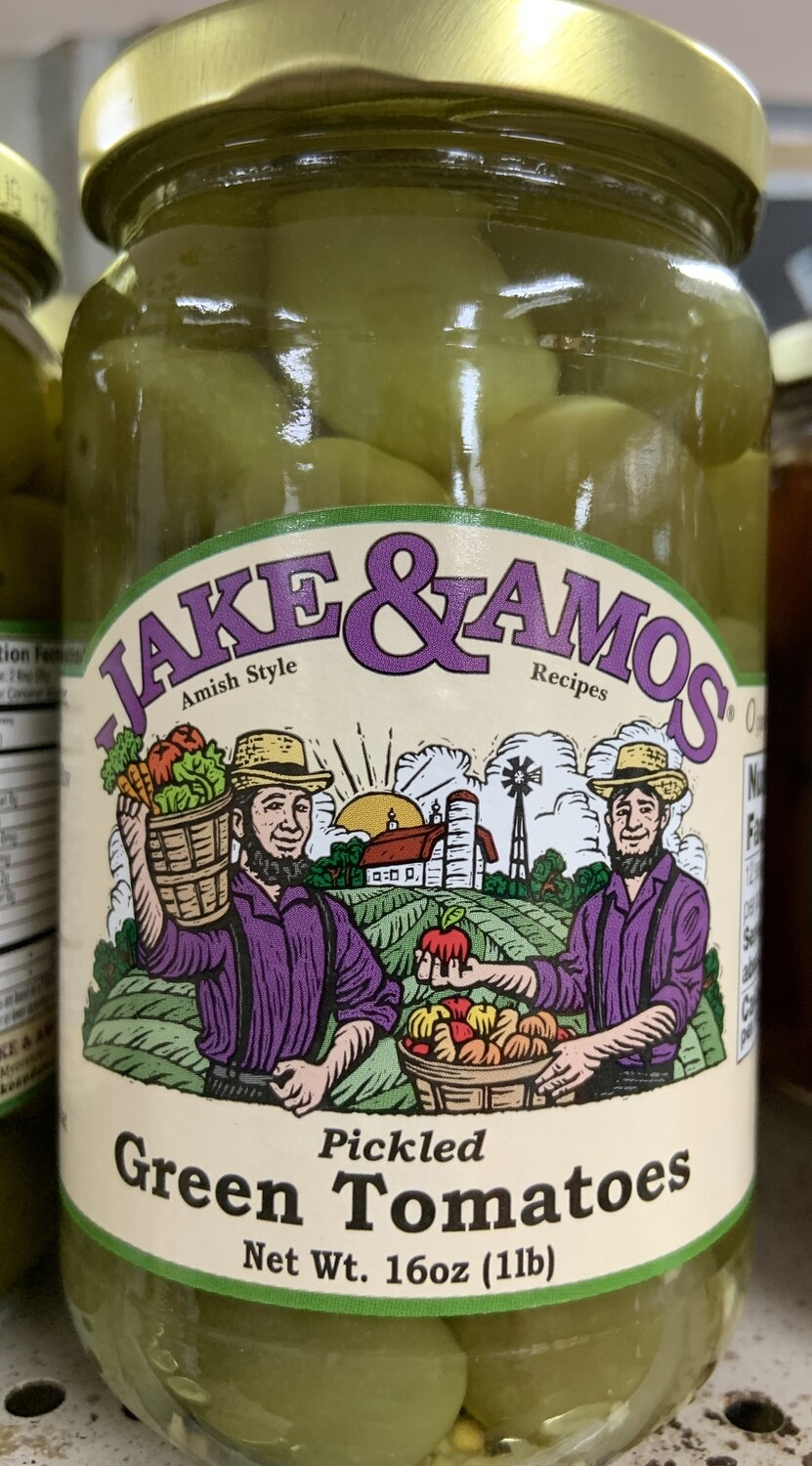 Jake & Amos Pickled Green Tomatoes 16oz