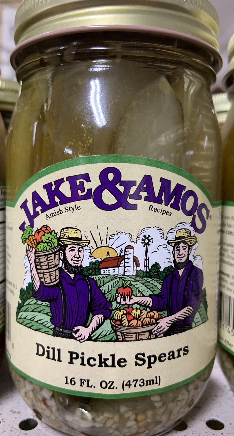 Jake & Amos Dill Pickle Spears 16 oz