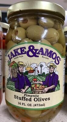 Jake & Amos Pimento Stuffed Olives 16 oz