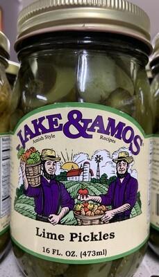 Jake & Amos Lime Pickles 16 oz