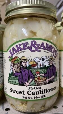 Jake & Amos Sweet Pickled Sweet Cauliflower 16 oz