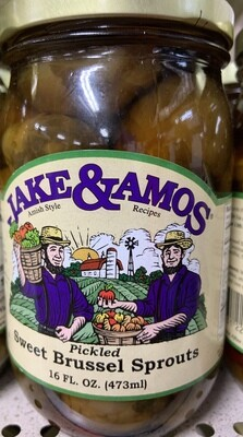 Jake & Amos Pickled Sweet Brussel Sprouts 16 oz