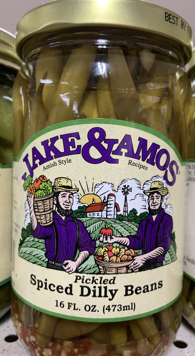 Jake & Amos Spiced Dilly Beans 16 oz