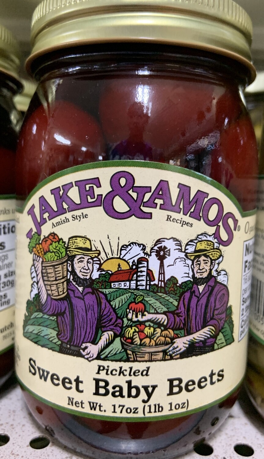 Jake and Amos Pickled Sweet Baby Beets 16 oz