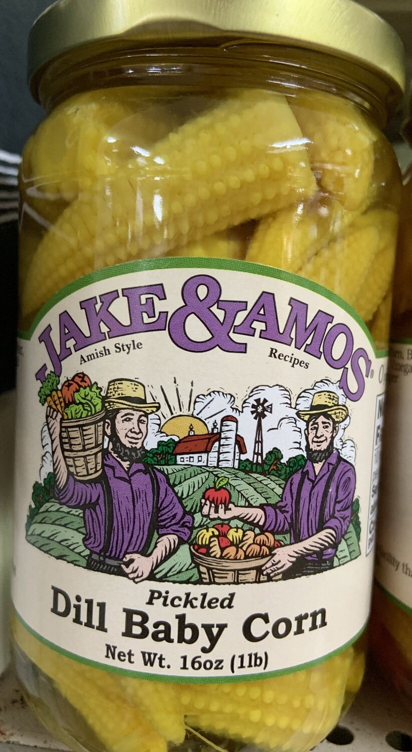 Jake & Amos Pickled Dill Baby Corn 16 oz