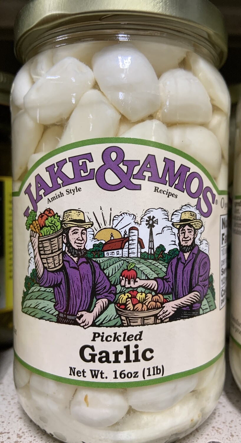 Jake and Amos Pickled Garlic 16 oz