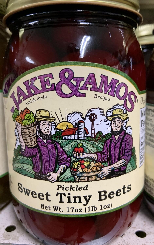 Jake & Amos Pickled Sweet Tiny Beets 16 oz