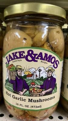 Jake & Amos Hot Garlic Mushroom 16 oz