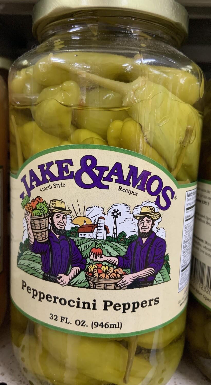 Jake & Amos Pepperocini Peppers 32 oz