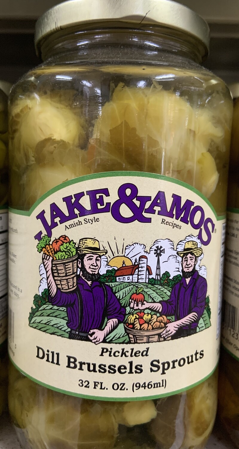 Jake & Amos Pickled Dill Brussells Sprouts 32 oz