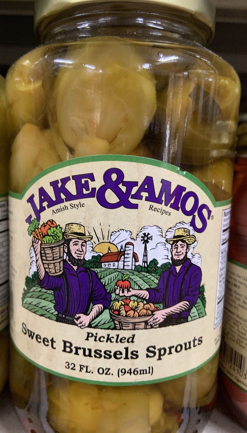 Jake & Amos Pickled Sweet Brussels Sprouts 32 oz