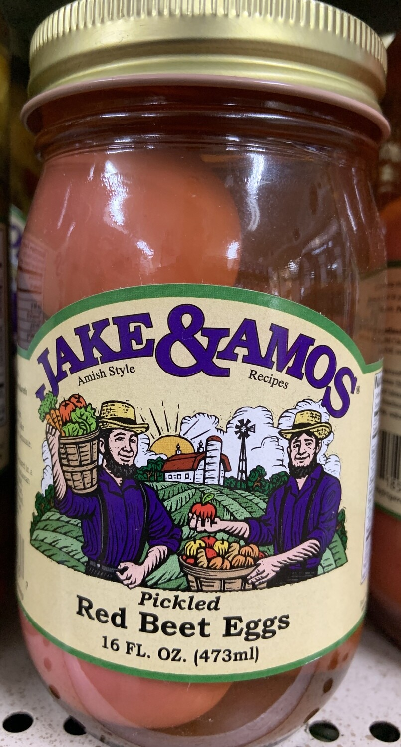 Jake & Amos Pickled Red Beet Eggs 16 oz