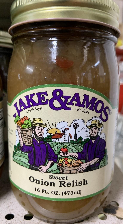 Jake & Amos Sweet Onion Relish 16 oz