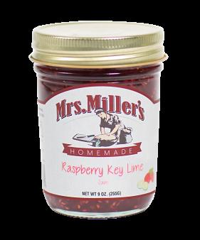 Mrs Miller's Raspberry-Key Lime Jam 9 oz