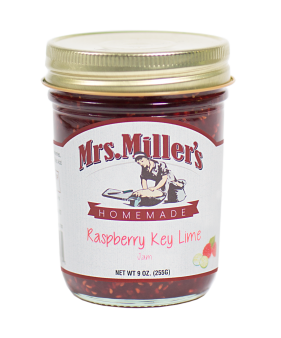 Mrs Miller's Raspberry-Key Lime Jam 9 oz