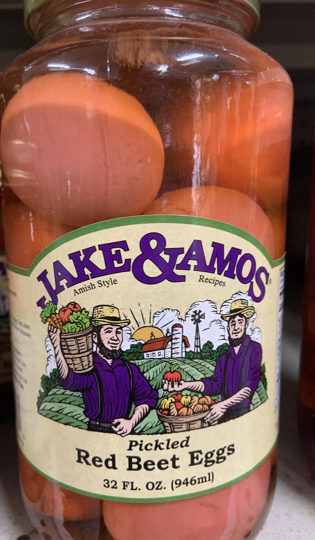Jake & Amos Pickled Red Beet Eggs 32 oz