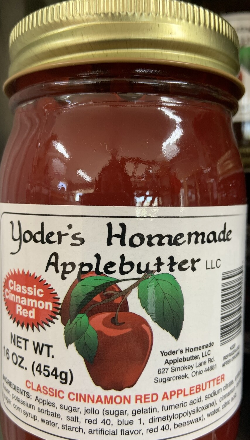 Yoder's Homemade Apple Butter Classic Cinnamon Red 16 oz