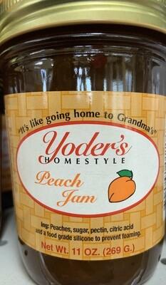 Yoder's Peach Jam 11 oz