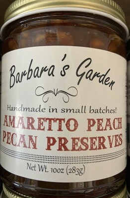 Barbara's Garden Amaretto Peach Pecan Preserves 10 oz