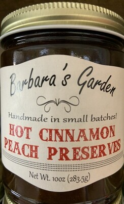 Barbara's Garden Hot Cinnamon Peach Preserves 10 oz