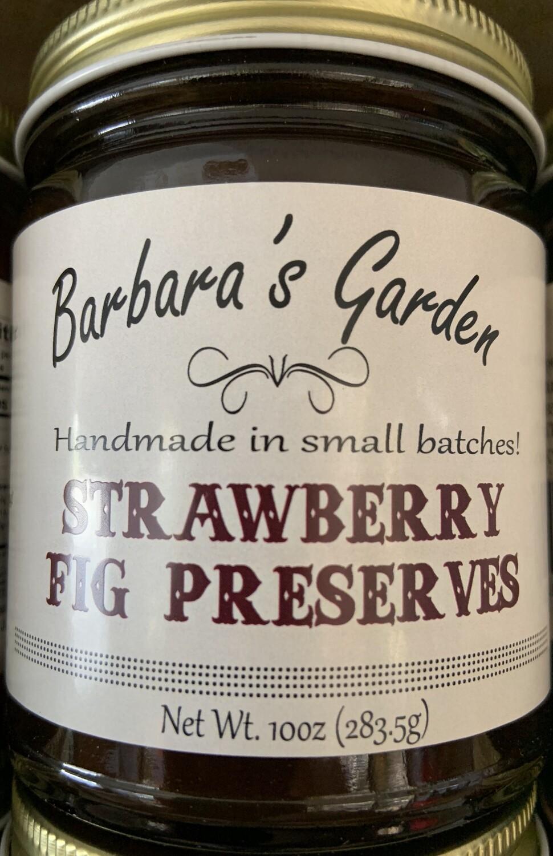 Barbara's Garden Strawberry Fig Preserves 10 oz