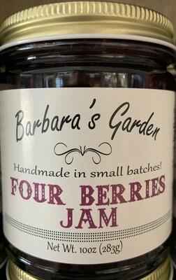 Barbara's Garden Four Berries Jam 10 oz