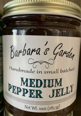 Barbara's Garden Medium Pepper Jelly 10 oz