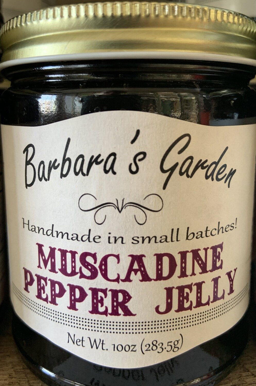 Barbara's Garden Muscagine Pepper Jelly 10 oz