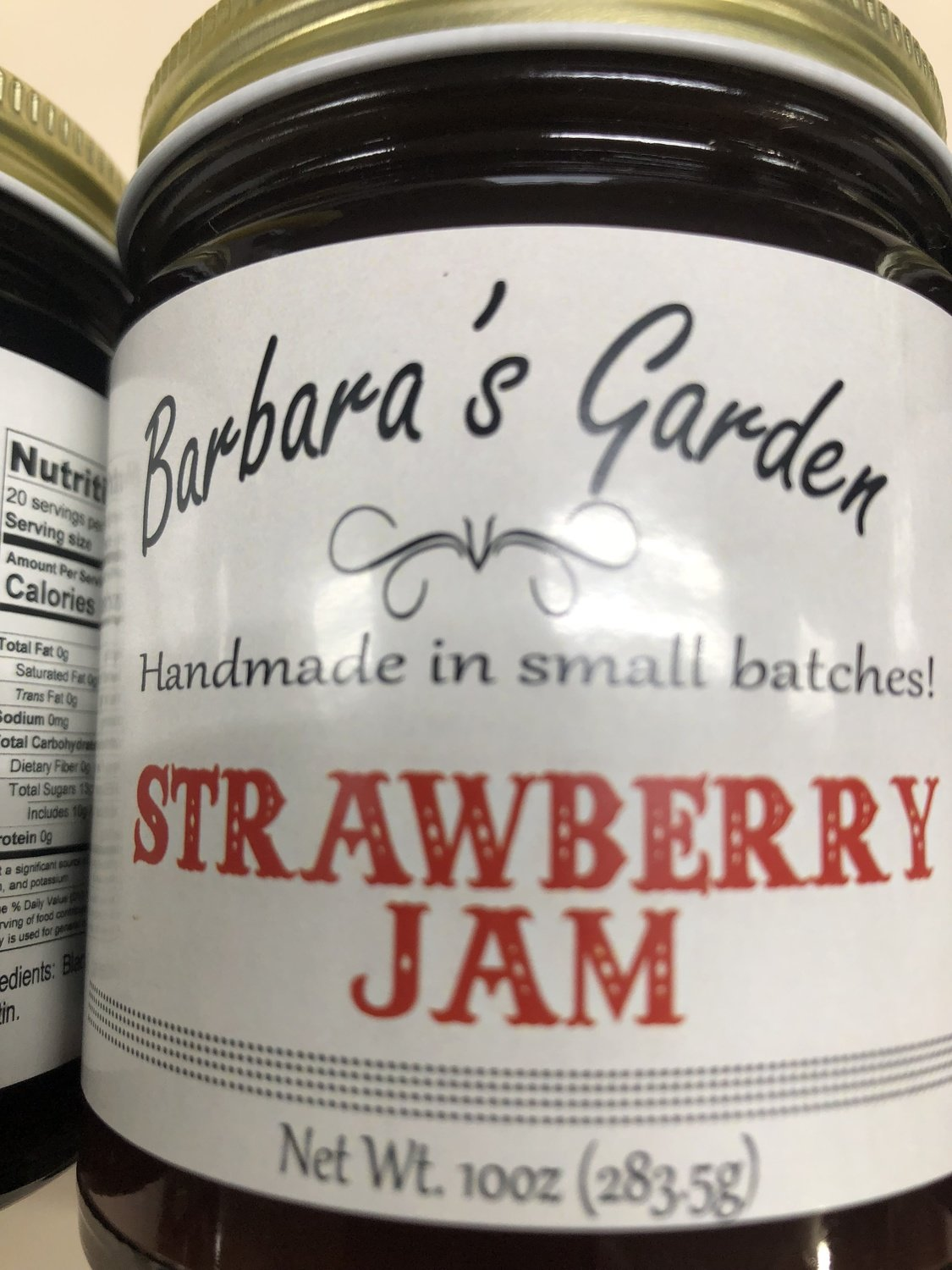 Barbara's Garden Strawberry Jam 10 oz