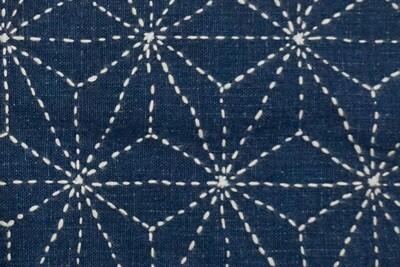 Asanoha Sashiko Stitched Fabric 081501   Summer Sale Deal!