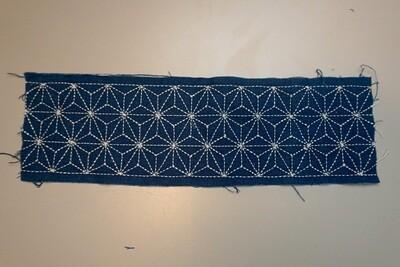 Asanoha Sashiko Stitched Fabric 081503   Summer Sale Deal!