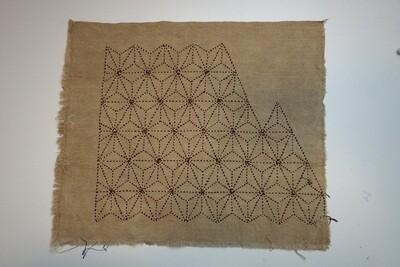 Asanoha Sashiko Stitched Fabric 081505   Summer Sale Deal!
