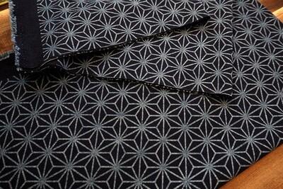 Asanoha & Indigo Dye Cotton Fabric