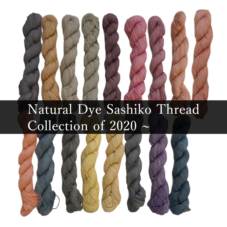 Natural Dye Sashiko Thread 2020 Collection