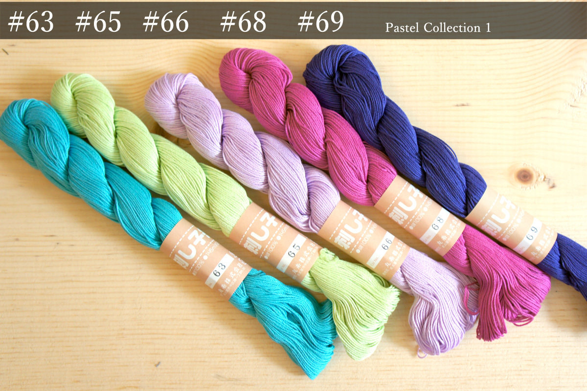 Sashiko Thread   Unique Pastel Color