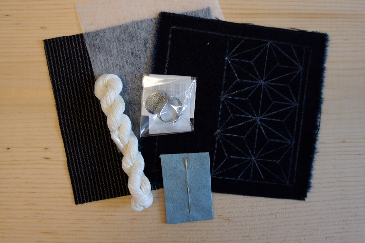 Sashiko Coaster DIY Kit | Everything you need in a minimal package
