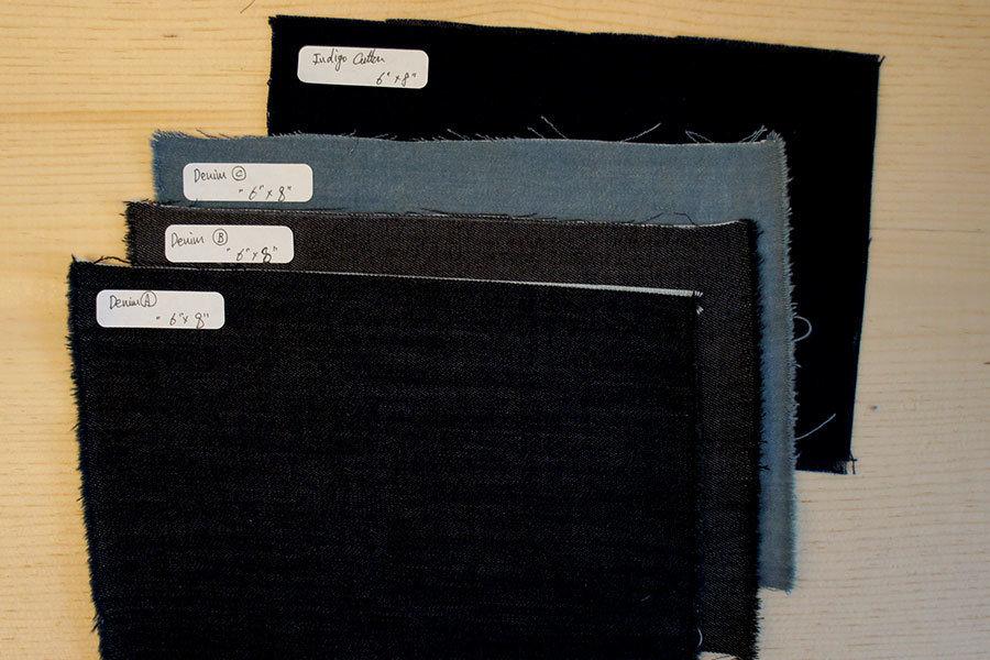 Mending Swatch Set | 3 Denim & 1 Indigo Cotton
