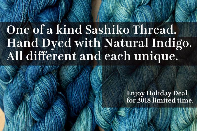 Indigo Dye Sashiko Thread   One of a kind for Holiday 2018