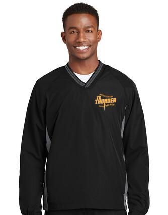 MENS Sport-Tek® Tipped V-Neck Raglan Wind Shirt