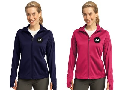 44N Sport-Tek® Ladies Tech Fleece Full-Zip Hooded Jacket -L248