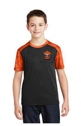 Sport-Tek® Youth CamoHex Colorblock Tee