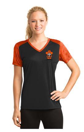 Ladies Sport-Tek® CamoHex Colorblock Tee