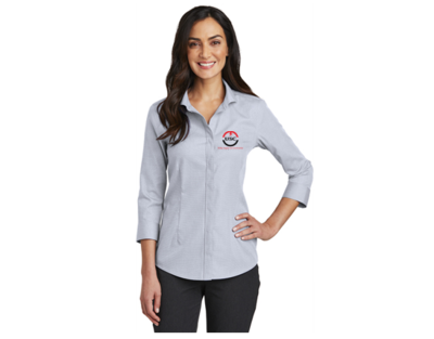 Red House® Ladies 3/4-Sleeve Nailhead Non-Iron Shirt RH690