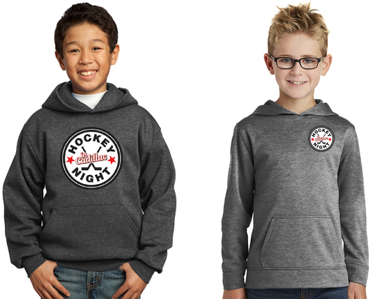 Port & Company® Youth Core Fleece Pullover Hooded Sweatshirt - HOCKEY